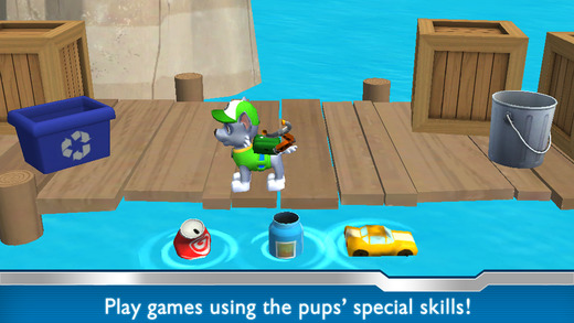 You can play as any of the characters in the PAW Patrol