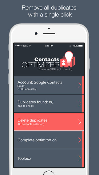 Clean up your contacts with ease