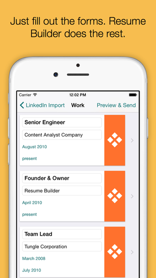 Resume Builder Pro app review appPicker