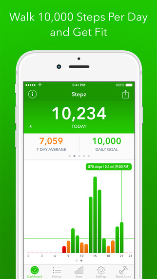 best pedometer app for iphone stepz pedometer and step counter app apppicker 16679