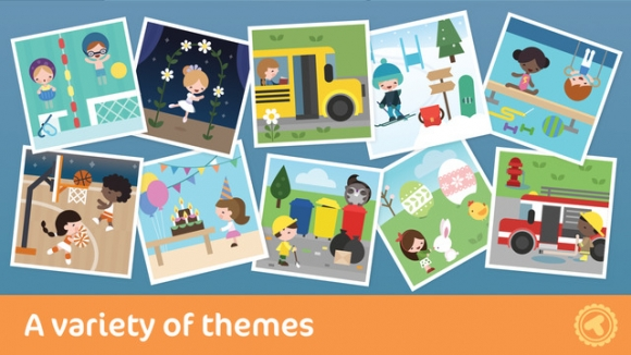 Kids can enjoy all kinds of different picture themes