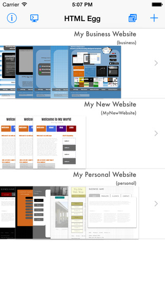 Create professional looking web pages