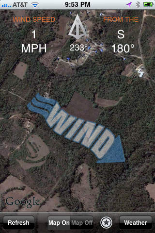 Primos wind app review apppicker you can turn off the map view in order to see the compass that shows wind direction by getting localized wind data you will be able to make a proper plan gumiabroncs Choice Image