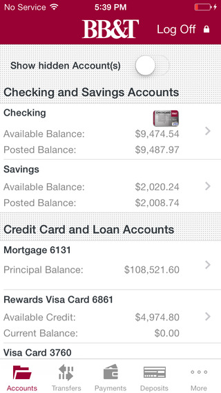 BB&T Mobile Banking app review - appPicker