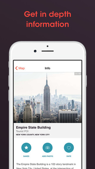 Iphone Map Of New York Offline.New York Travel Guide And Offline City Map App Apppicker