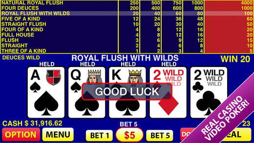 Realistic Casino Style Video Poker image