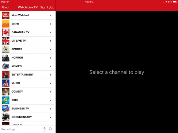 FilmOn Free Live Television app review: view more than 1000