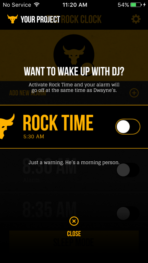 Wake up with The Rock