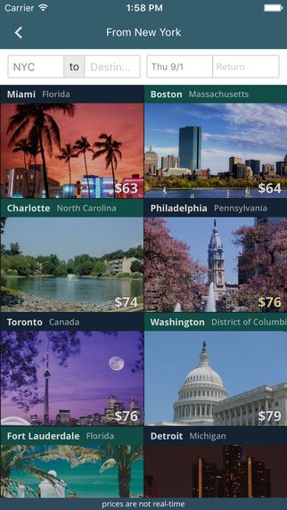 A nice layout of suggested cities to visit