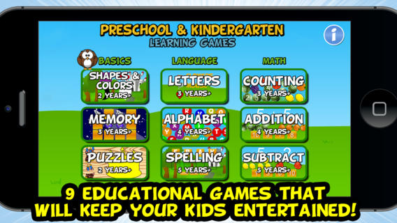 Additional Games Available In The Full Version Are Counting Addition Subtract Alphabet Memory Spelling And Puzzles Range Age For Kids