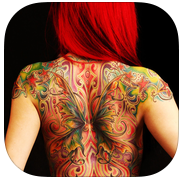 Virtual Tattoo Maker FREE app review: give yourself a tattoo without the ink